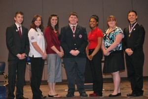 Allison (second from left) with other Ohio HOSA officers
